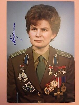 Valentina Tereshkova signed autograph photo 1ST woman in space. USSR