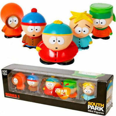"""NEW 5 pcs Characters South Park Action 6cm or 2.4"""" Figures Dolls in Box SET"""