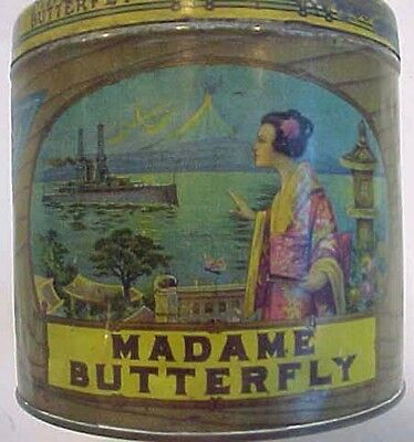 Large Madame Butterfly Cigar Tin