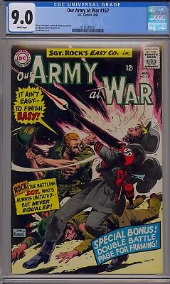 Our Army at War #157 (Aug 1965, DC), CGC 9.0, White pages