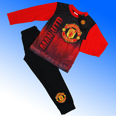 Boys Authentic Official Manchester United FC AOP Pyjamas #MUFC Age 4-12 Years