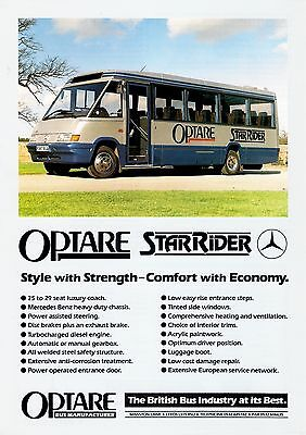 Bus Manufacturer Specification Sheet ~ Optare StarRider - Mercedes: Demo: 1989