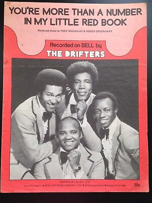 You're More Than a Number in my Little Red Book - The Drifters -1974 Sheet Music