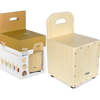 Stagg Kids Cajon with EasyGo Backrest - Natural Front Board