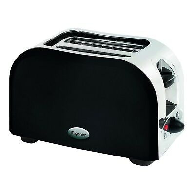 Elgento Black 2 Slice 950W  Stainless Steel Toaster E449B