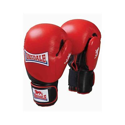 Lonsdale Leather Club Sparring Boxing Gloves Red/Black Gym Training Gloves