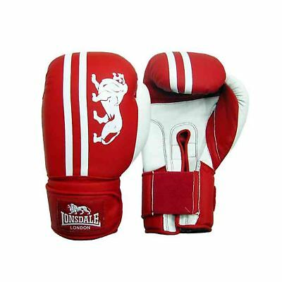 Lonsdale Club Sparring Boxing Gloves Red/White Gym Training Gloves