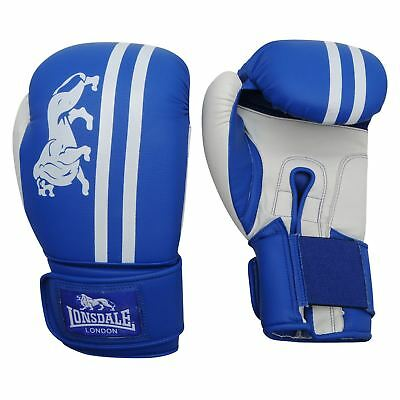 Lonsdale Club Sparring Boxing Gloves Blue/White Gym Training Gloves