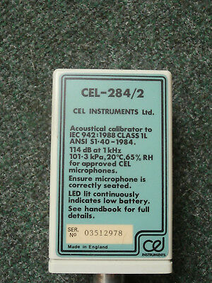 Acoustic Calibrator CEL-284/2 -TESTED