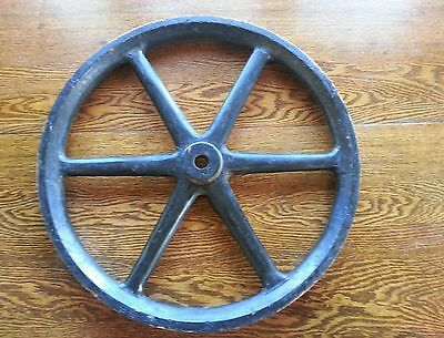 Antique Industrial Wood Wheel pulley Steam Punk Country Architectural