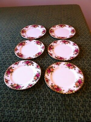 6 Old Country Roses starter/salad plates 8.25  inches across excellent condition