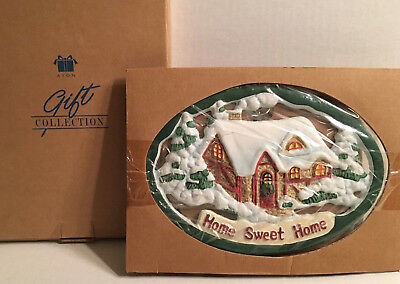Avon Christmas Gift Collection Trivet Home Sweet Home MINT In Box 1999