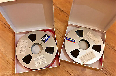"2 x Ampex 406 Professional Audio Reel To Reel Tapes (10.5 "" Reel, 1"" Tape)"