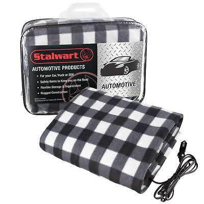Electric Heater Car Blanket- Heated Travel Throw Electric Blanket for Car and...