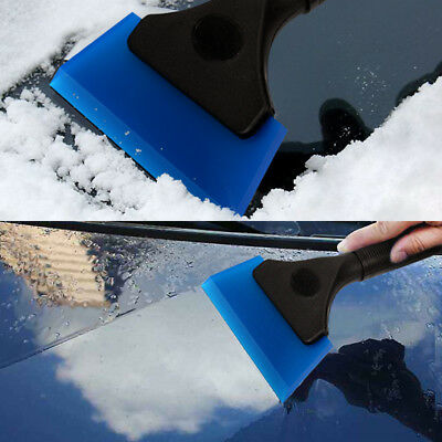 Rubber Squeegee Window Clean Scraper Snow Removal Water Wiper Plastic Handle NEW