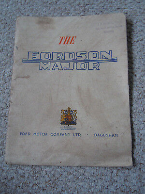 @Vintage Fordson Major Diesel Tractor Farming Booklet-Very Nice Item@