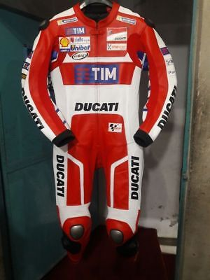 New Ducati Corse Tim Motorbike Motorcycle Motogp Racing Leather Suit