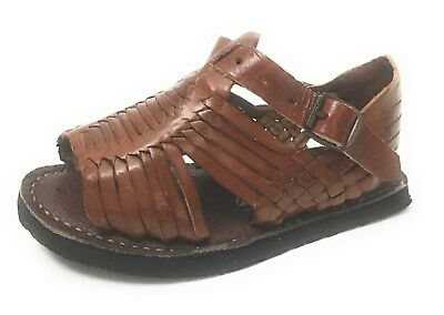 Kids Baby Toddler Authentic Huarache Mexican Sandals. Kids Leather Sandals
