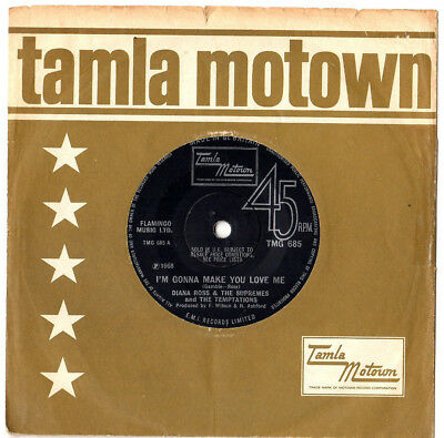 """Motown.supremes & Tempt's.i'm Gonna Make You Love Me / A Place In.uk Orig 7"""".ex"""