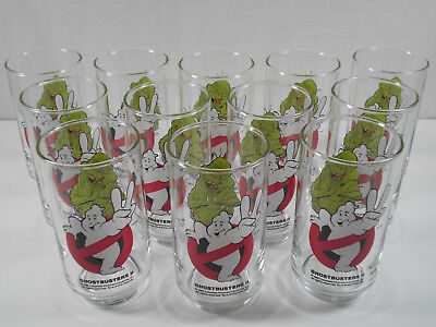 Lot of 12 1989 McDonald's GHOSTBUSTERS 2 collectible GLASS  DRINKING GLASSES !