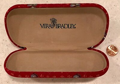 NEW Vera Bradley Provincial Red ~ Sunglasses Glasses Case ~ Chic French Provence