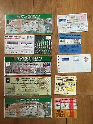 Collection of 10 England Rugby Union Home TICKETS - See Picture (4)