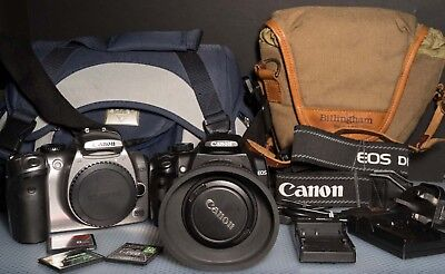 2 Canon Cameras 300D & 350D with Lens memory cards working