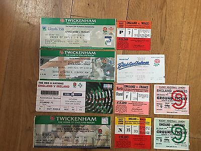 Collection of 10 England Rugby Union Home TICKETS - See Picture (3)