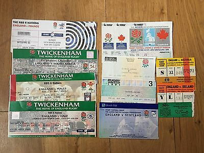 Collection of 10 England Rugby Union Home TICKETS - See Picture (1)