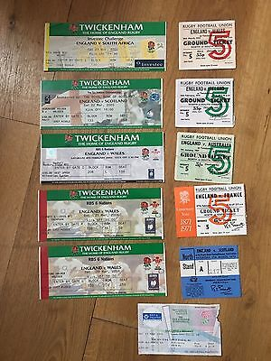 Collection of 10 England Rugby Union Home TICKETS - See Picture (8)