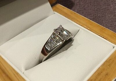 2.8 Carat Diamond Engagement Ring In Platinum By Clarity Boutique Size O & Half