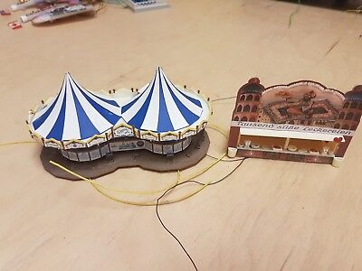 C8 HO OO gauge fairground stalls BAR FOOD working lights Faller ??