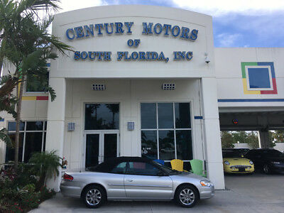 2006 Chrysler Sebring Limited Convertible 2-Door Leather/Suede CD Changer 1 Owner Chrome