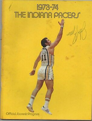 Indiana Pacers Signed Program 1973 -1974