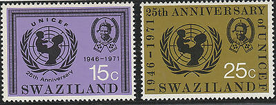 Swaziland 1972 25th Anniv of UNICEF  SG 192-193 Superb Mint Never Hinged