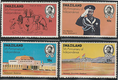 Swaziland 1973 5th Anniv of Independence SG 204-207 (MNH)