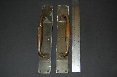 Antique Bronze Door Handles Pulls Set Vintage  set1