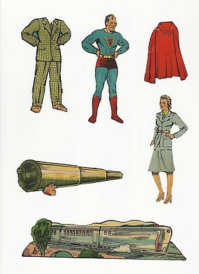 "Rare Superman Punch Out Book Pieces - Set 5 - 1939, 1940 - Don""t Miss These"