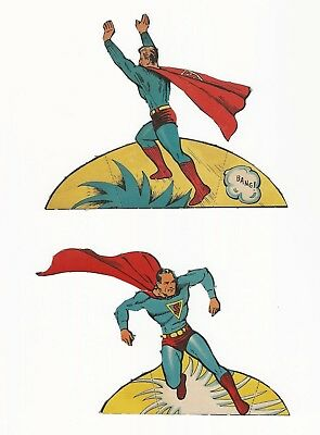 "Rare Superman Punch Out Book Pieces - Set 7 - 1939, 1940 - Don""t Miss These"