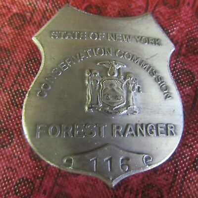 Obsolete Conservation Commision Forest Ranger Badge #116 State Of New York