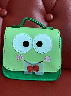 Sanrio Original: Mini Keroppi Purse Keychain / Accessory With Chain (TSC)