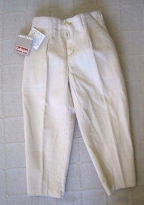 Vintage Cream Cord Trousers  Age 2-3 Year - French - New