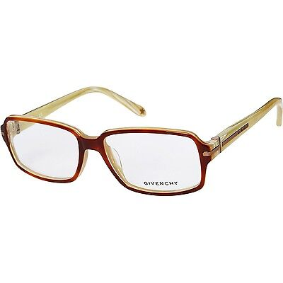 GIVENCHY Cream & Brown Rectangle Optical Frames