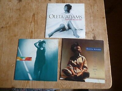 """Oleta Adams 3 vinyl 7""""s Circle Of One Youve Got To Give Me Room I Just Had To He"""