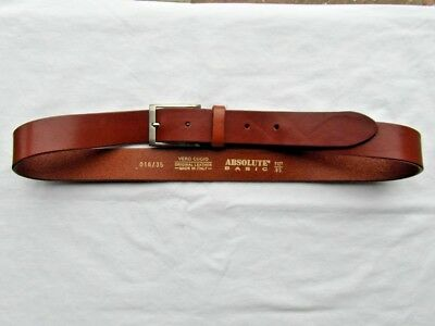Vero Cugio Tan Leather Belt Size Medium & 3 Cms Wide Very Good Condition