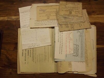 WWI ARCHIVE documentation law clerks application exemption active service 1916