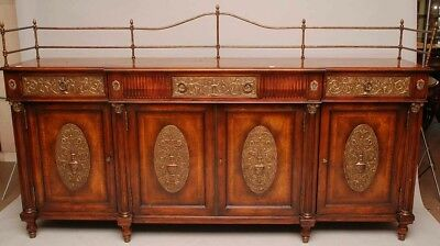 Amazing 7ft Quality Mahogany Server Brass Gallery and Panels