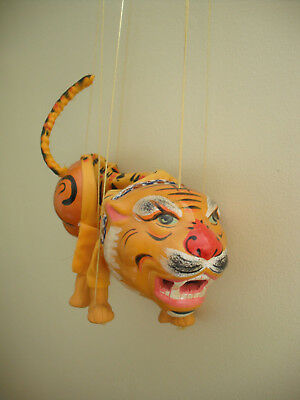 Vintage CHINESE TIGER STRING PUPPET   + tatty box