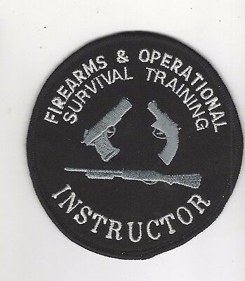Queensland Firearms & Survival Training Instructor Patch- Australia
