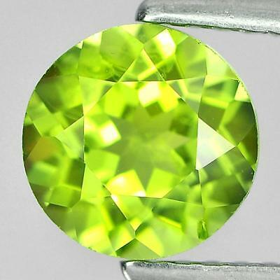 Unheated 1.53 Ct. 7 Mm. Round Shape Natural Gem Green Peridot From Pakistan